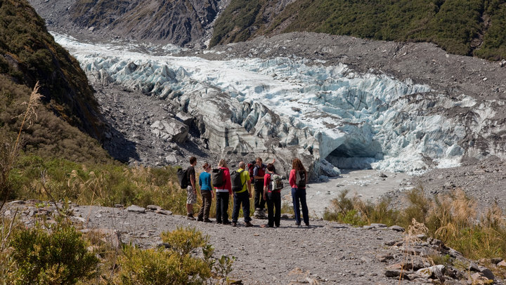 Hiking at the Foot of the Fox Glacier