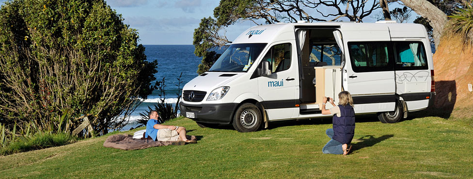 Exterior - Maui Ultima 2 Berth Campervan Hire New Zealand