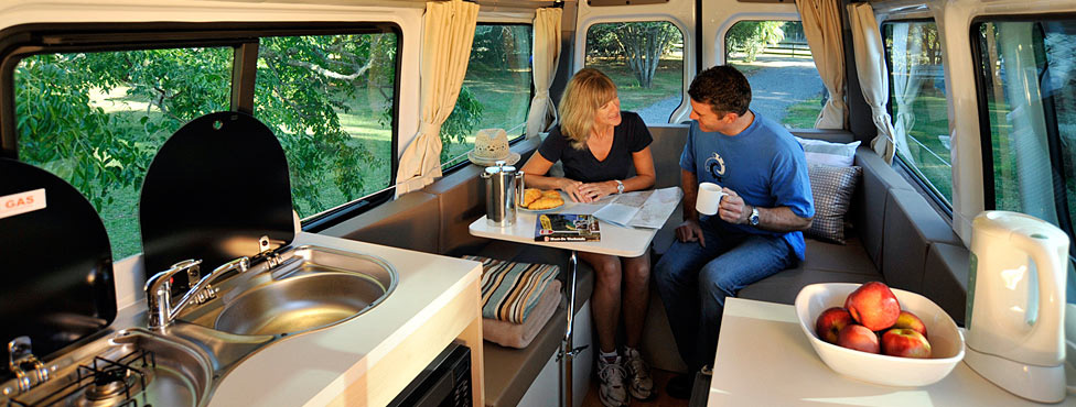 Livingareas - Maui Ultima 2 Berth Automatic Campervan Hire New Zealand
