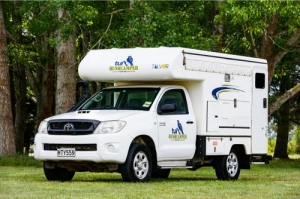 2 Berth Bush Camper without Shower/Toilet - Manual (Tui)