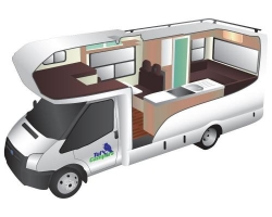 6 Berth Trail Explorer Deluxe with Shower/Toilet - Manual (Tui)
